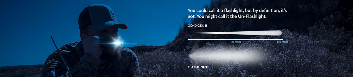 You could call it a flashlight, but by definition, it's not. You might call it the Un-Flashlight. OD40 and Flashlight comparison chart