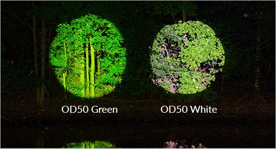 OD50 White lens vs. OD50 Green Lens